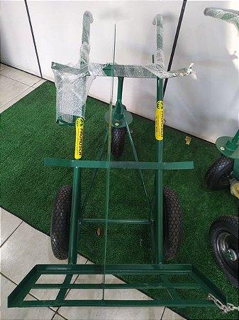 Carrinho Cilindro oxig / acet. Reforçado 3 Rodas Pneu E Camara S/ Suporte  Extintor 2 Kgs  325x8 Pr- 346 Prorosca