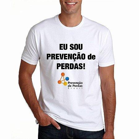 Camiseta Prevenção de Perdas Branca Masculina Eu Sou