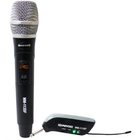 Microfone Sem Fio Digital Wireless Uhf Sound Voice Mm-113sf