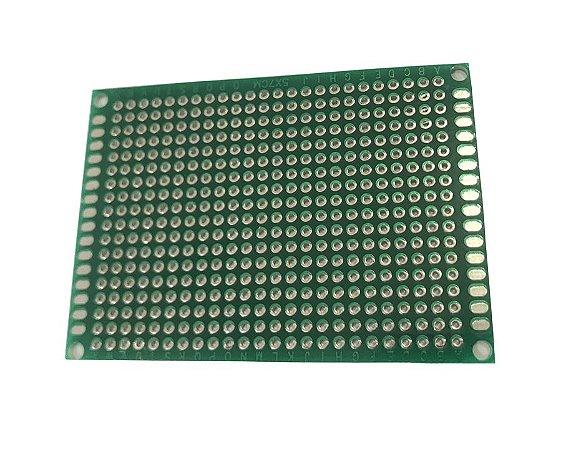 Placa de Circuito Impresso Dupla Face 5X7Cm