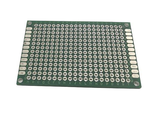 Placa de Circuito Impresso Perfurada Dupla Face 4X6Cm