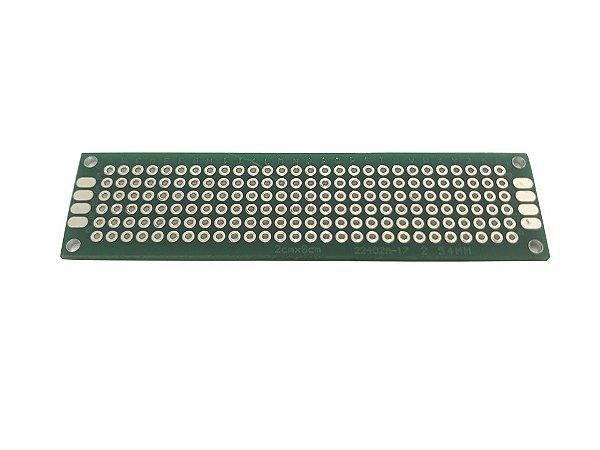 Placa Circuito Impresso Perfurada Dupla Face 2X8Cm