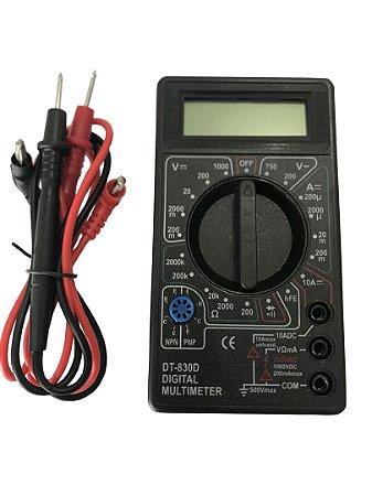 Multímetro Digital Dt830 Com Bipe Sonoro - Sem Bateria