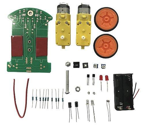 Kit Montagem Robo Carro Seguidor De Linha 2 Rodas Diy