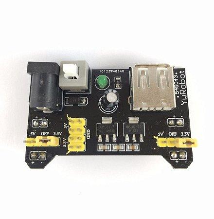 Mb102 Módulo Alimentação Bredboard 5v e 3,3v - Com Regulador AMS1117