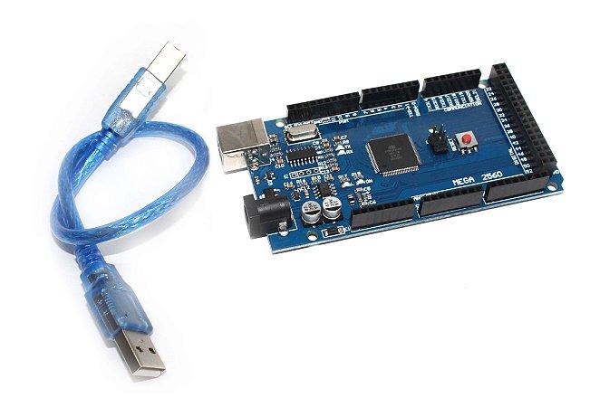 Placa Compatível Arduino Mega Atmega2560 + Cabo Usb