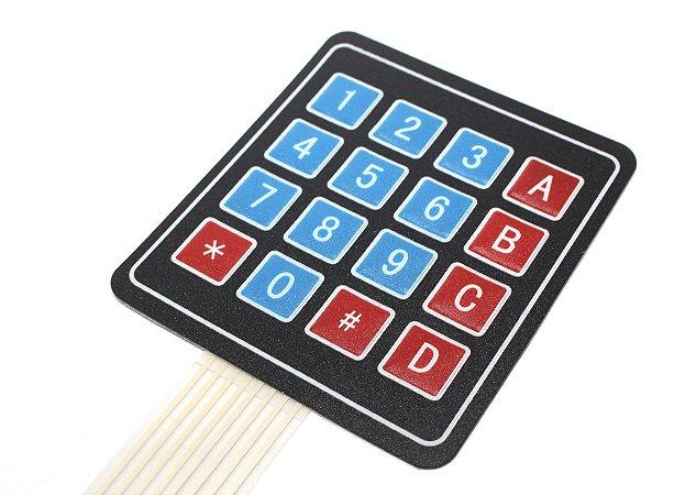 Teclado Matricial Membrana 16 Teclas
