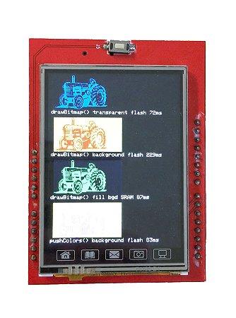 Display LCD TFT 2,4 polegadas touchscreen
