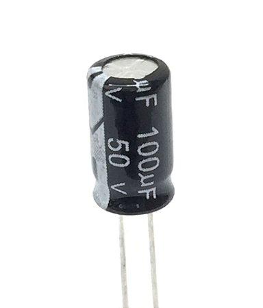 Capacitor Eletrolítico 100uF 50v - 10 Unidades