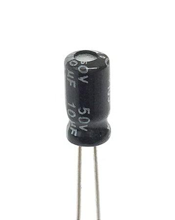 Capacitor Eletrolítico 10uF 50v - 10 Unidades