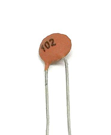Capacitor Cerâmico 102 1nF - 10 Unidades
