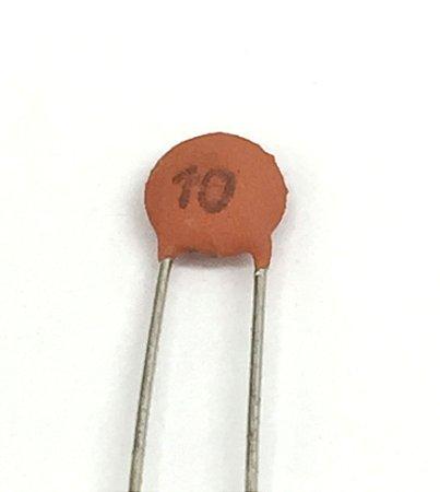 Capacitor Cerâmico 10pF - 10 Unidades