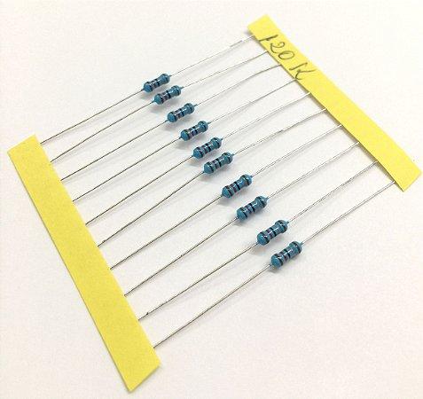 Resistor 1/4W 1% - 120K - 10 UNIDADES