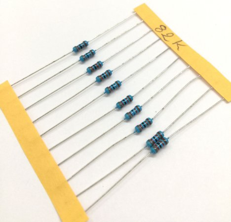 Resistor 1/4W 1% - 82K - 10 UNIDADES
