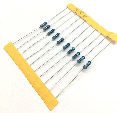Resistor 1/4W 1% - 3,3K - 10 UNIDADES