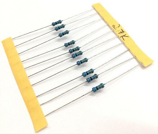 Resistor 1/4W 1% - 2,7K - 10 UNIDADES