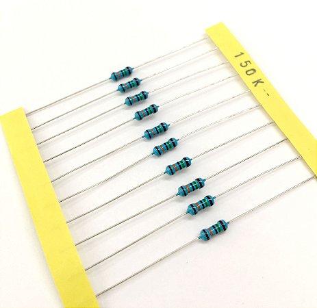 Resistor 1/4W 1% - 150K - 10 UNIDADES