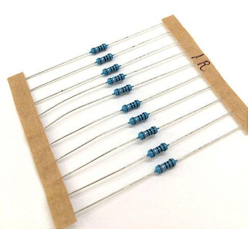 Resistor 1/4W 1% - 1R - 10 UNIDADES