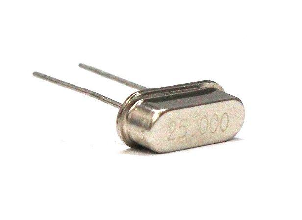 Cristal Oscilador HC49S 25 Mhz