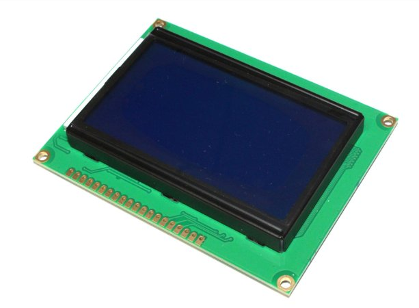 Display Lcd Gráfico 128x64 Backlight Azul Letras Brancas