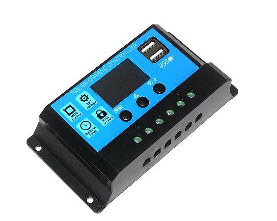 Controlador De Carga Para Painel Solar 30A Pwm 12V e 24V