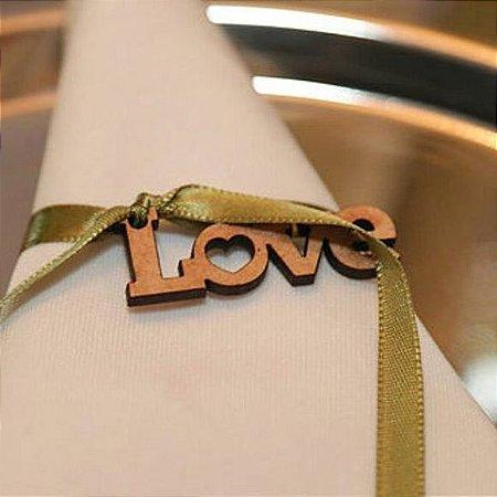 Pingente LOVE para guardanapo - ATACADO
