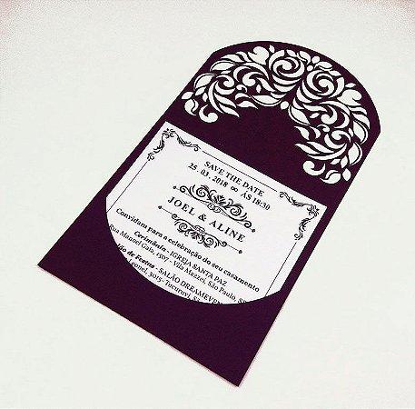 Pacote c/ 10 Convites Modelo 05  Roxo
