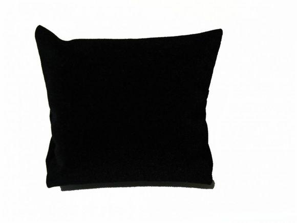 Almofada para relógio veludo preta
