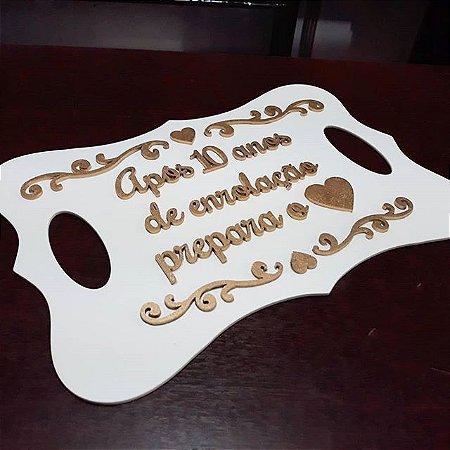 Placa para Entrada de Pajem ou Daminha c/ Texto Personalizado