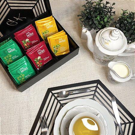 Caixa para chá ou Porta Cápsulas de Café Hexagonal com 6 divisões