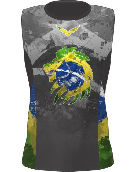 Rashguard - Sem Manga - Brazilian Lion - Preta