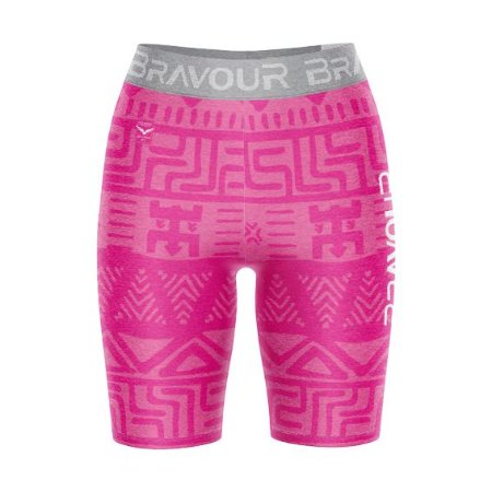 Short de Compressão - Tribal - Rosa