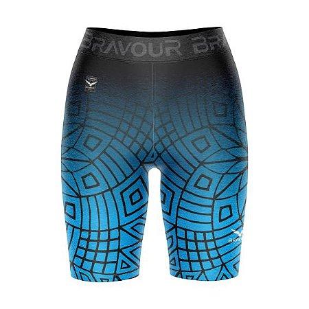 Short de Compressão - Maori - Azul