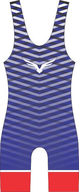 Malha Wrestling - Cross Pattern - Azul (barra azul ou vermelha)