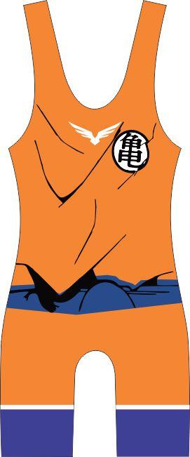 Malha Wrestling - Dragon Ball - Goku (barra azul ou vermelha)