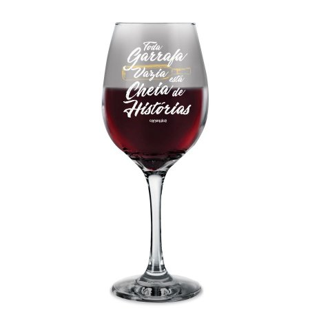 Taça de Vinho Garrafa Vazia