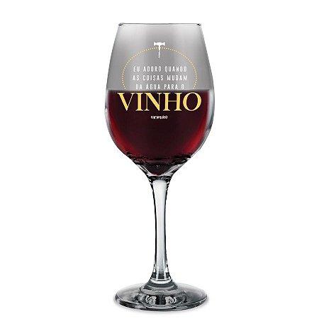 Taça de Vinho Água para o Vinho