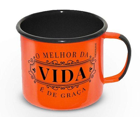 Caneca Retrô Esmaltada De Boas