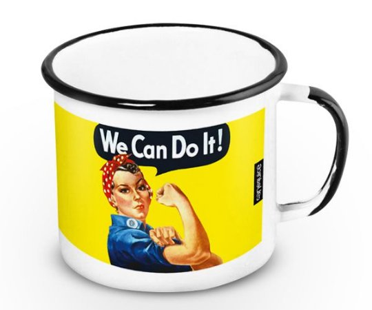 Caneca Retrô Esmaltada We can do it