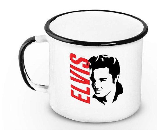 Caneca Retrô Esmaltada Elvis