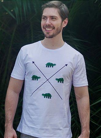 Camiseta Masculina Tartaruga - Branca