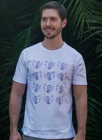 Camiseta Masculina Águia - Branca