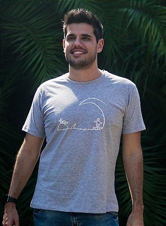 Camiseta Masculina Surf - Cinza