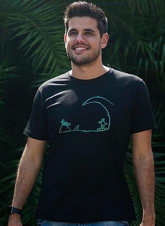 Camiseta Masculina Surf - Preta
