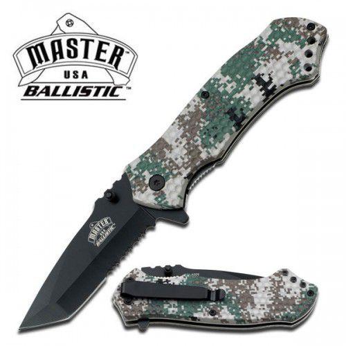 Canivete serrilhado tala digi camo texturizada com abertura assistida