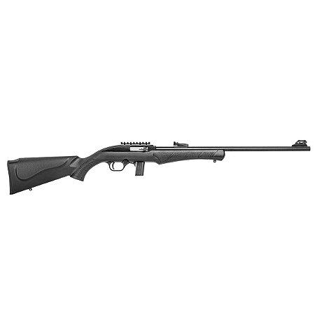 """Rifle CBC Semiautomático 7022 Way Calibre .22 LR Cano 21"""" Coronha Polipropileno Preto"""