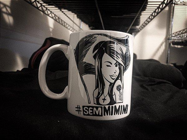 Caneca Avena #SemMimimi - Porcelana 330ml branca