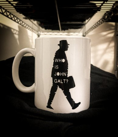 Caneca Who Is John Galt?  - Porcelana 330ml branca