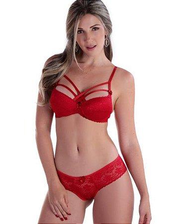6b500895b Conjunto Lingerie Strappy em Renda com Bojo - Conjuntos de lingeries ...