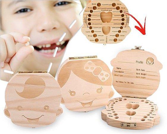 Porta Dentinho De Leite - Caixinha Infantil Madeira